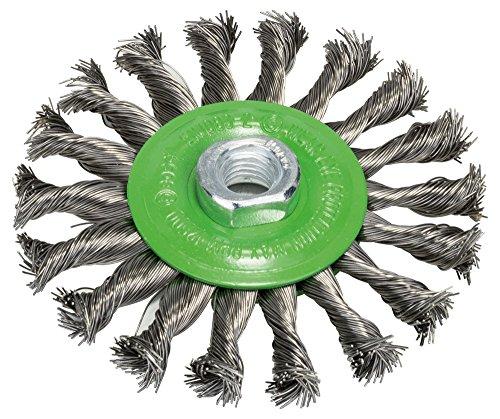 Bosch Professional Scheibenbürste, Edelstahl, gezopfter Draht, 0,5 mm, 115 mm, 12500 U/ min, M 14, 2608622106