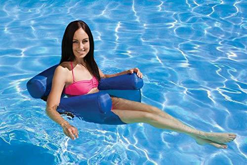 COWINN Cama hinchable para piscina 4 en 1, hamaca para el agua, para adultos y niños (azul)