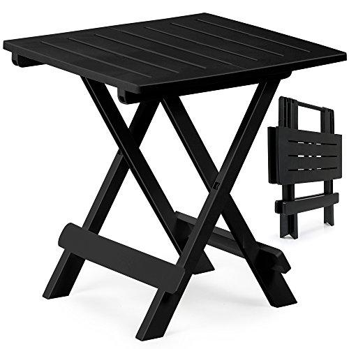 PROGARDEN Klapptisch Adige Beistelltisch Campingtisch Gartentisch Tisch - schwarz