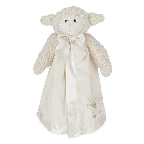 3ec621b6c Bearington Baby Lamby Snuggler, White Lamb Plush Stuffed Animal Security  Blanket, Lovey 15