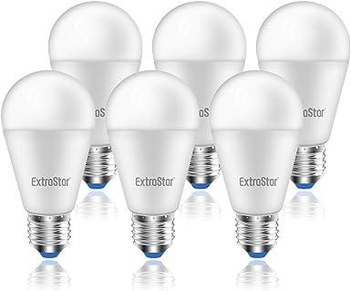 TALLA 15W. Bombilla LED E27, 15W (equivalente a 120W), 1200lm,6500K luz fría - 6 unidades [Clase de eficiencia energética A+]