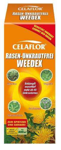 Celaflor 3579 Rasen-Unkrautfrei Weedex, Hochwirksamer Unkrautvernichter zur Bekämpfung von schwer bekämpfbaren Unkräutern im Rasen, Konzentrat, 400 ml Flasche