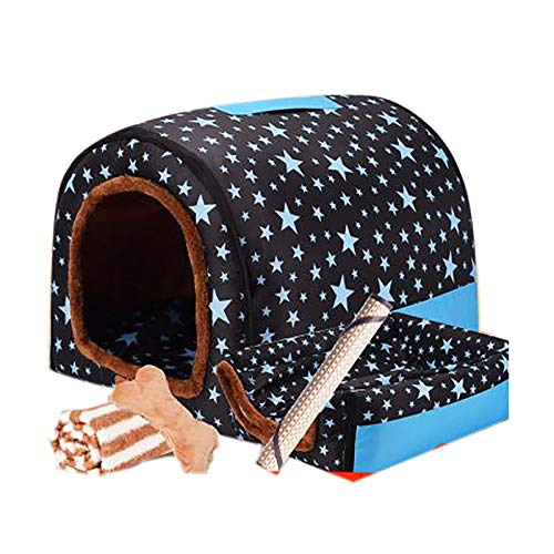 Large Kennel Winter Warm, Washable Pet Nest Average Indoor House And Machine Washable Sofa Antiskid Foldable Soft Hot Dog Cat,1,XXXL
