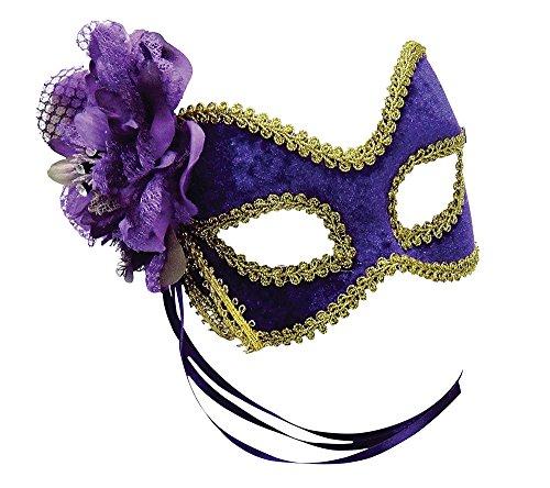 Purple/Gold Flower Mask