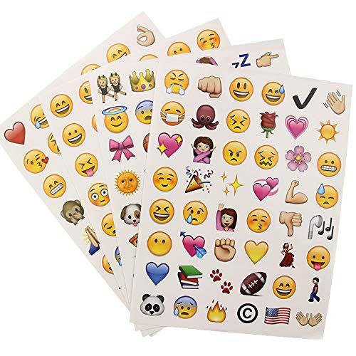 HYXGG 192 Smile Face Diary Stickers Fai da Te Kawaii Scrapbooking Cartoleria Adesivo Cartoleria New School Supplies 4 Fogli / Set
