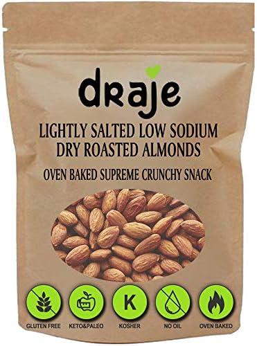 Draje Roasted Almonds Lightly Salted Bulk Whole Natural Dry Roasted Almond with Sea Salt Kosher product image