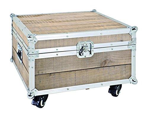 Haku-Möbel Lowboard, Kiefer-Aluminium, 52 x 52 x 35 cm