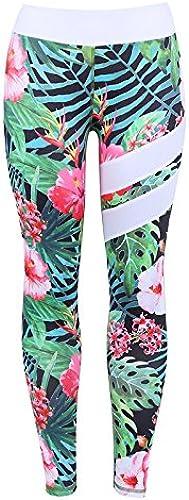 Xuanytp Pantalon de Yoga Pantalon Imprimé Taille Haute Collants Les Les dames Fitness Sports Stretch Collants Push Haute Vitesse Sèche Sport Décontracté Pantalon Les Les dames Pantalon