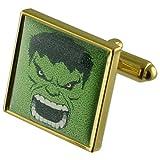 Select Gifts verde Hulk Gemelos de oro con grabados caso personalizado