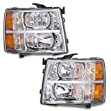2Pcs Left Right Chrome Housing Amber Corner Headlight Headlamp Replacement For Chevy...