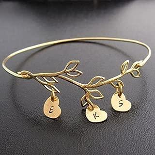 personalized stamped bangle bracelet