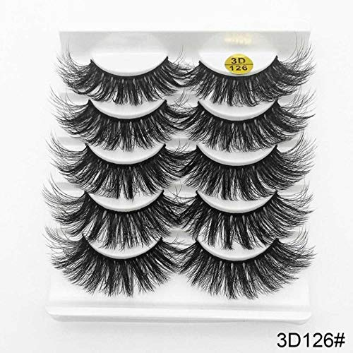 KADIS 5/8 Pairs False Eyelashes Natural Wispy Fluffy Dramatic Volume Fake Lashes Extension 13-25mm Handmade Wispy Soft Eye Makeup,126,sexysheep