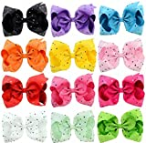 Huyizhi Zubehör für Mädchen 12PCS Mädchen-Haar-Klipp-Kind-Säuglingshaarnadel-Baby-nettes Haar-Klipp mit Rhinestone
