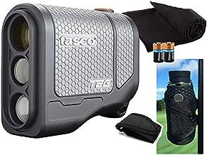 Tasco Tee-2-Green (Standard Version) Golf Laser Rangefinder PlayBetter Pack   2019   5X Mag, 1 Yard Accuracy, Scan Mode, (+Cart Mount, Microfiber Towel, Two CR2 Batteries)