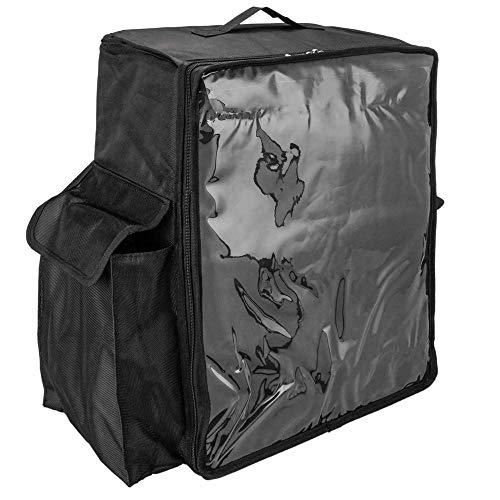 CityBAG - Mochila isotérmica 39 x 50 x 25 cm Negra para Comidas al Aire Libre y Entrega de Pedidos de Comida en Moto o Bicicleta