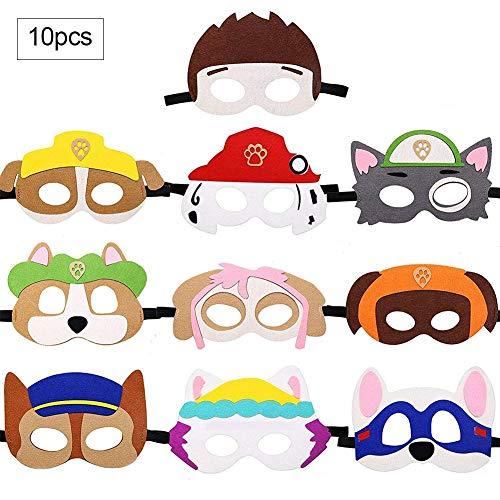 QUUY Máscaras de Fieltro 10 Piezas, máscaras de superhéroes Colores Máscaras de Fiesta de Cosplay Niños Adultos Suministros de Fiesta para niños Máscaras de Ojos de Fiesta de superhéroe Cosplay