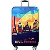 Cover Proteggi Copertura per valigie 18-32 pollici Coperchio per bagagli in fibra di bambù, fibra di carbonio (Paesaggio europeo, S)