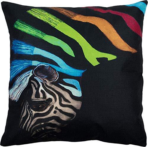 Puccybell Kussensloop met zebra animal print digitale print, decoratieve Kussenhoes voor kussens 45 x 45 cm KB004 (M4)