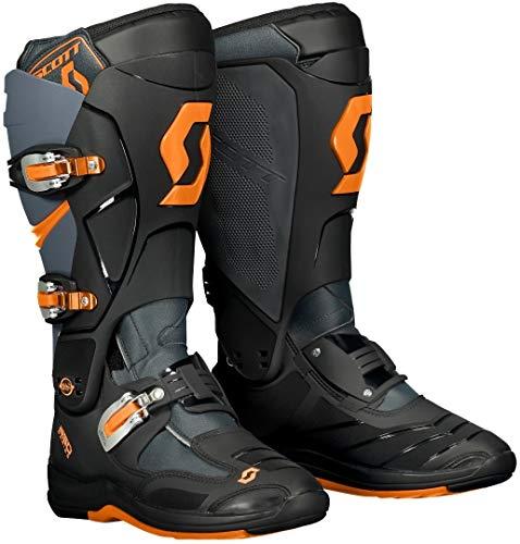 Scott 550 MX Motocross Supermoto Motorrad Stiefel schwarz/orange 2020: Größe: 42