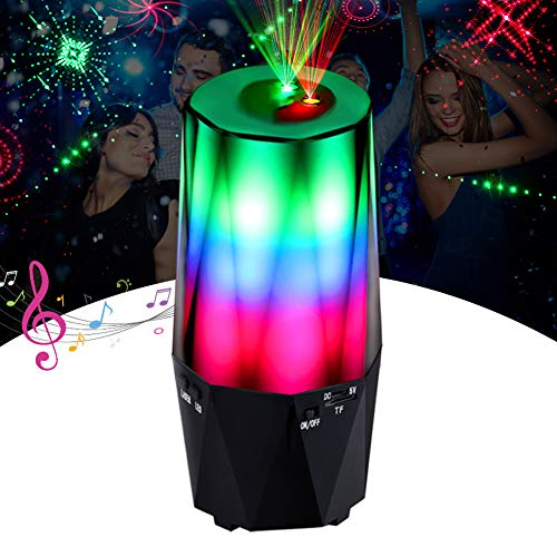 LED Laser Projector, CrazyFire Disco lights Projector with Bluetooth Speaker, 16 Light Modes Strobe Party lights with TF Card for Party Wedding Birthday Christmas Pub Show