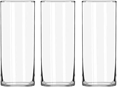 STARSIDE 3 Pack Clear Glass Cylinder Vases, Table Flowers Vase, for Home & Wedding Decrations and Formal Dinners (10 Inch)