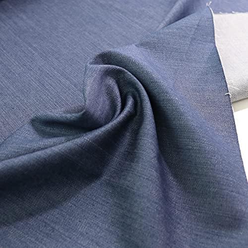 TOLKO Baumwollstoffe Schwerer Jeans Stoff | weich Robust | Bekleidungsstoff für Hose Jacke Rock und Polsterstoff für Sofa Stuhl Bank | Meterware 160cm breit (Denim Blau)