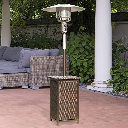 Outsunny 12KW Patio Heater Free Standing Outdoor Garden Heating Rattan Furniture Wicker Table Top