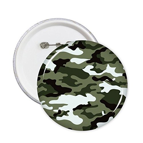 Camouflage Line Art Grain Illustratie Patroon Ronde Pin Badge Knop 5 stks XL