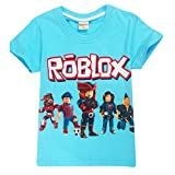 Kids Boys Roblox Fútbol Juegos Family Gaming Team Tops tee (Verde, 140...