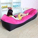 Cama de viaje Viajes Bed adulto agua Tumbona rápido que acampa plegable Saco de dormir impermeable inflable del sofá bolsa de dormir que acampa perezoso bolsas de aire cama 5-23 ( Color : Rose Red )