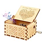 ASZKJ Can't Help Falling in Love Wood Music Box, Antique Engraved Musical Boxes Case for ifts for Lover, Boyfriend, Girlfriend, Husband, Wife