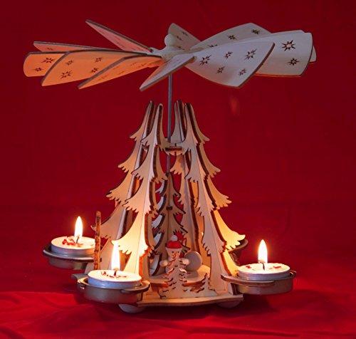Wichtelstube-Kollektion Weihnachtspyramide Teelichter Winterkinder Pyramide Weihnachten