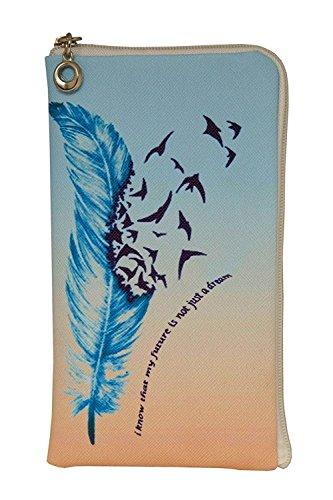 Elegante Reissverschluss Handytasche Softcase My Future geeignet für Cyrus CS24 - Handy Schutz Hülle Slim Hülle Cover Etui Tasche