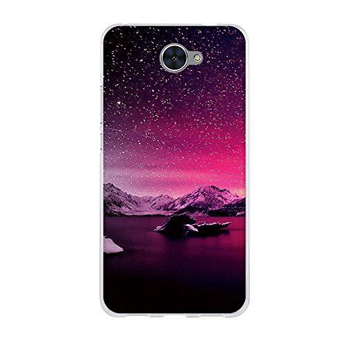 Fubaoda Hülle für Huawei Y7, w&erSchöner Schneefalll,Hochwertige Langlebige Dünn Soft Silikon Schutzhülle-Schutz vor Fingerabdruck,Staub & Scratch-Stoßfest TPU Handyhülle für Huawei Y7(5.5