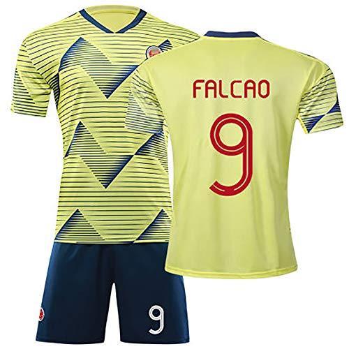 per Falcao 9 per James 10, America's Cup Colombia, Divisa da Calcio Estiva da Uomo, Tuta Sportiva da Calcio per Bambini, Tuta Genitore-Bambino, Tuta da Allenamento Eccellente-Yellow 9#-L