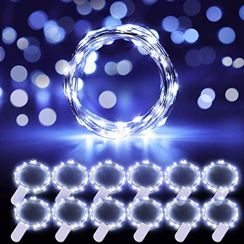 Govee Fairy Lights, Battery Operated LED String Lights, for Wedding Bedroom Festival Deco Cool White 12 Pack