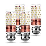 10W E27 LED Maíz Bombilla, LOHAS 3000K Blanco Cálido, 80W Incandescente Bombilla Equivalentes, 850LM, Edison Tornillo Bombillas, 240V, No Regulable, Ángulo de Haz de 360, Paquete de 4 Unidades
