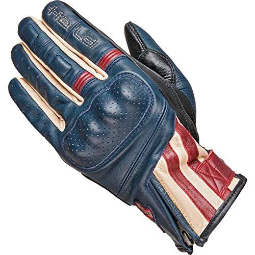 Held Motorradhandschuhe kurz Motorrad Handschuh Paxton Handschuh blau/beige/burgund 9, Herren, Chopper/Cruiser, Sommer, Leder
