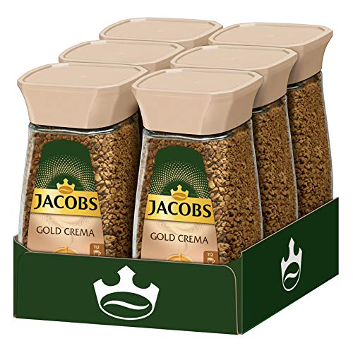 Jacobs löslicher Kaffee Gold Crema, 6 x 200 g Instant Kaffee
