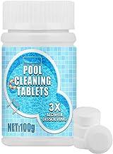 Tabletas de Cloración de Piscinas Químico para Apertura de Piscinas, Tabletas Limpieza Efervescentes para Piscinas, Tabletas Limpieza de Piscinas para una Rápida Desinfección y Limpieza (100g)