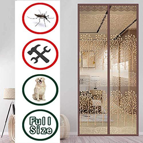 JYMEI Magnetvorhang Balkontü,Schutz Vor Mücken Selbstklebend Ohne Bohren Benutzerdefiniert Fliegenvorhang Moskitonetz Für Balkontür,F-90 * 205cm