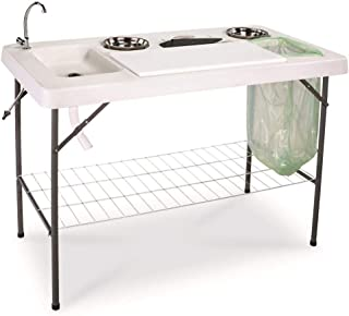 Guide Gear Deluxe Fish/Game Processing Table with Faucet and Accessories