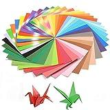 February Origami - Lote de 200 hojas de papel (15 x 15 cm, 40 tipos de papel fácilmente plegables, adecuadas para manualidades de papel, niños y profesores escolares)