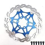 Rotores de freno de bicicleta, 160 mm Disco de freno de bicicleta Bicicleta de montaña Disco de freno flotante Bloqueo central Accesorios de bicicleta 6 pernos