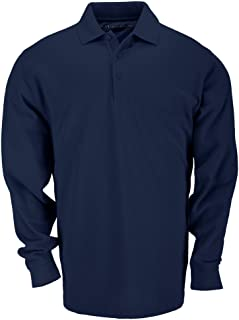 Tactical Men's Long Sleeve Professional Dress Polo Shirt, Cotton Pique Knit Fabric, Style 42056