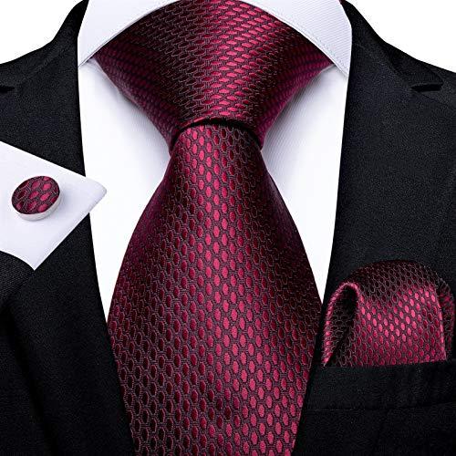 GTUQ Corbata de hombre para hombre, corbata de seda azul, verde, corbata de boda para hombre, corbata de corbata de hombre, traje de negocios para boda (color: ciruela)
