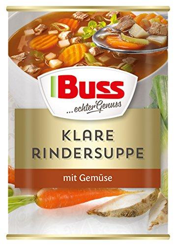 Buss Klare Rindersuppe mit Gemüse, 12er Pack (12 x 400 g)
