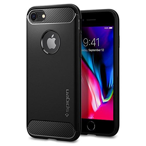 Spigen Cover iPhone 8, Cover iPhone 7 Rugged Armor Progettato per iPhone 8/7 Cover Custodia - Nero