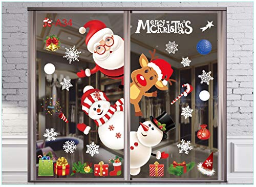 Pegatinas de ventana de Navidad para ventanas de Navidad, pe
