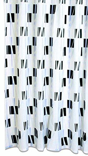 Acus Textiles Textil Duschvorhang Geo BxH 180x200cm   Motiv: Abstrakt in schwarz grau